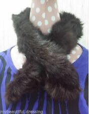 Unbranded Faux Fur Patternless Scarf Scarves and Wraps for Women