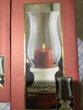 Lennox Holiday Hurricane With Pillar Candle Christmas RRP 115