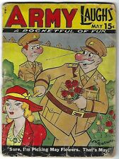 Army Laughs Vol. 4 No. 2 May 1944 - Ken Browne cover - Bill Wenzel covers