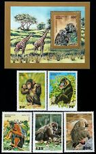 R.Benin - Monkey -5 St.+1 S/Sh.-1995. MNH**,BEN 80