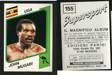 John Mugabi (UGA) Panini Boxing CARD Supersport 1986!! NEW n.155!!