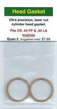 OS .40 FP & OS .40 LA Cylinder Head Gasket 2 Pack NIP
