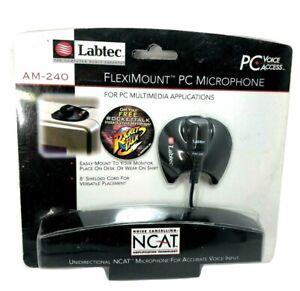 VINTAGE 1998 Labtec AM-240 Flexneck Microphone Uni-Directional NCAT