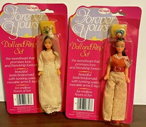 1980's Fun World ~ Set of 2 ~ Forever Yours Doll and Ring Sets ~ NIP