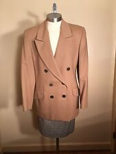 Women's JH Collectibles Two Piece Beige Blazer and Tweed Skirt Size 6