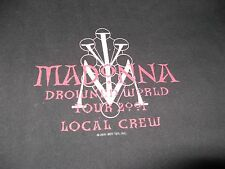 MADONNA WORLD TOUR BACK STAGE CONCERT TOUR SHIRT XL LOCAL CREW SHIRT