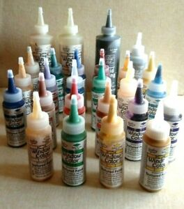 Lot of 26 Watercolors Window Color Glass Paint  -  WINDOW COLOR