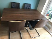 Harveys Extendable Dining Table & 6 Bentwood Leather Spring Chairs