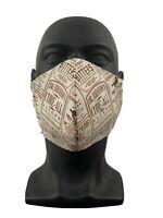 Mundschutz Cowboy Texas Western Zeitung Design Beige  Mund Nase Maske