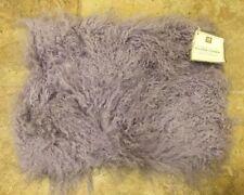 "NEW Pottery Barn Teen MONGOLIAN Faux Fur 12x16"" Pillow Cover PURPLE"