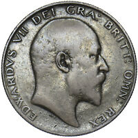 1903 HALFCROWN - EDWARD VII BRITISH SILVER COIN - RARE