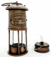 Vintage Brass Minors Oil Lamp~Antique Maritime Ship Lantern Nautical Boat Light