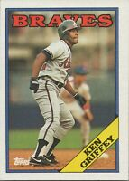 Ken Griffey Sr. 1988 Topps Baseball Card 443 Atlanta Braves