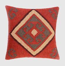 5 Pcs Handwoven Kilim Cushion Cover 18x18 Decorative Jute Square Pillow Cases