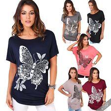 Hüftlang Damenblusen,-Shirts mit U-Ausschnitt und Viskose