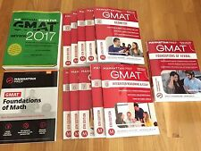 Official Guide to the GMAT Review 2017, and Manhattan Prep 6th Edition 11 books