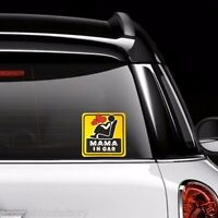 2 MAMA IN CAR Women Safety Sign Reflective Car Vinyl Sticker Window Decal Decor
