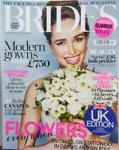 Brides UK July August 2016 Flowers Everywhere Modern Gowns FREE SHIPPING CB