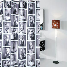 Marilyn Monroe Pattern Shower Curtain Bathroom Waterproof Fabric 72 Inch + Hooks