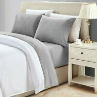 Comfort 4 Piece Fleece Plush Sheet Warm Deep Pocket Bed Sheets Hypoallergenic