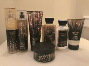 Bath & Body Works INTO THE NIGHT Mist Body Cream Lotion Body Wash Scrub Pick 1