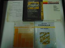 1990 Toyota COROLLA Service Repair Shop Manual Set W EWD + AC Installation + Fea