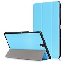 Sky Blue Slim Tri-Fold Magnetic PU Leather Case for Samsung Galaxy Tab S3 9.7""