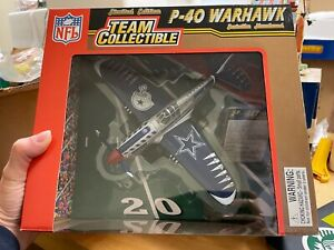 Dallas Cowboys  NFL Fleer P-40 Warhawk Plane 1:48 Scale Die Cast NIB