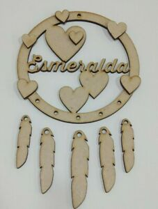 MDF Dream Catcher - Personalised Hearts, Embellish, Paint, Colour, Glitter, DIY