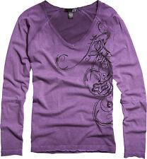 Fox Racing Fox Girl Whirl Long Sleeve L/S Tee Shirt Sangria (Small)