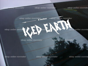 iced earth decal sticker rock metal music band