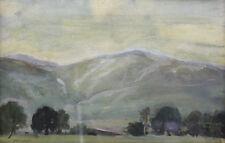 David A Baxter (Norwegian,1942-) Watercolor Painting  Mountain Landscape