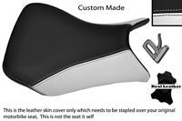 WHITE AND BLACK CUSTOM FITS BMW S 1000 RR 12-13 FRONT SEAT COVER