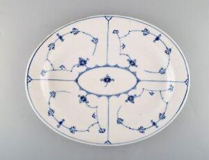 Royal Copenhagen Blue Fluted Plain serving dish in hand painted porcelain.