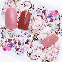 Nail Art Water Decals Transfer Stickers Flower Butterfly Rose Decoration Decals