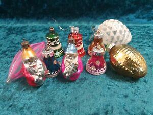 Tannenbaumkugeln Weihnachtskugeln DDR Zapfen Weihnachtsmann Glocke #728