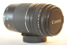 Canon EF 75-300mm f/4-5.6 III lens NICE for EOS A2 620 Rebel T7 90D 80D 5D 6D 7D