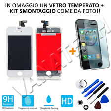 TOUCH SCREEN VETRO SCHERMO + LCD DISPLAY ASSEMBLATO PER IPHONE 4S BIANCO