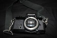 Vintage Nikon Nikkormat FT2 35mm SLR Film Camera, Bag, Lenses, Accessories