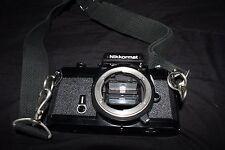 Vintage Nikon Nikkormat FT2 35mm SLR Film Camera, Bag, Lenses, Accessories