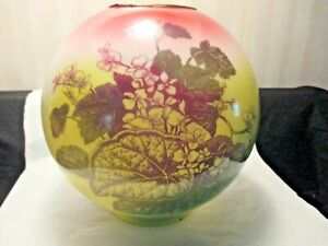 """9"""" PAINTED FLORAL BALL LAMP SHADE"""