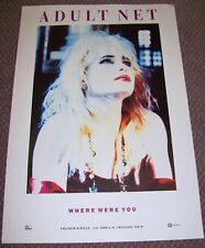 """ADULT NET SMITHS FALL BLONDIE REC COM PROMO POSTER """"WHERE WERE YOU"""" SINGLE 1989"""