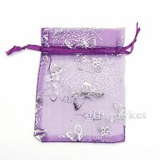 25/100pcs Organza Wedding Party Favor Butterfly Gift Candy Bag Jewellery pouches