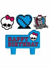Monster High Party Supplies Birthday Candle set 4pcs.