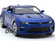 2016 CHEVROLET CAMARO SS BLUE DIECAST 1:18 MODEL CAR BY MAISTO 31689