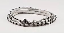 Swarovski crystal 5 Wrap Bracelet in White with gunmetal crystals