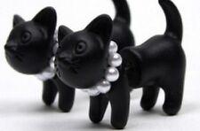 Cute 3D Black Kitten/Cat Pair of Earrings