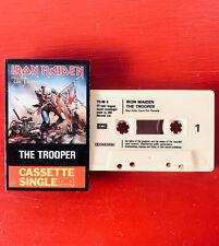 IRON MAIDEN on EMI  —THE TROOPER— cassette tape single | orig UK