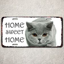 LP0017 Car License Plate Chartreux Cute Pet Cat's House Home Sweet Home Sign