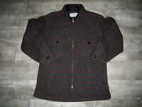 Vintage LL Bean Mackinaw Cruiser Wool Field Hunting Men Coat Jacket Medium Short